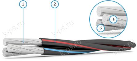 Конструкция СИП-2 2х25+1х25
